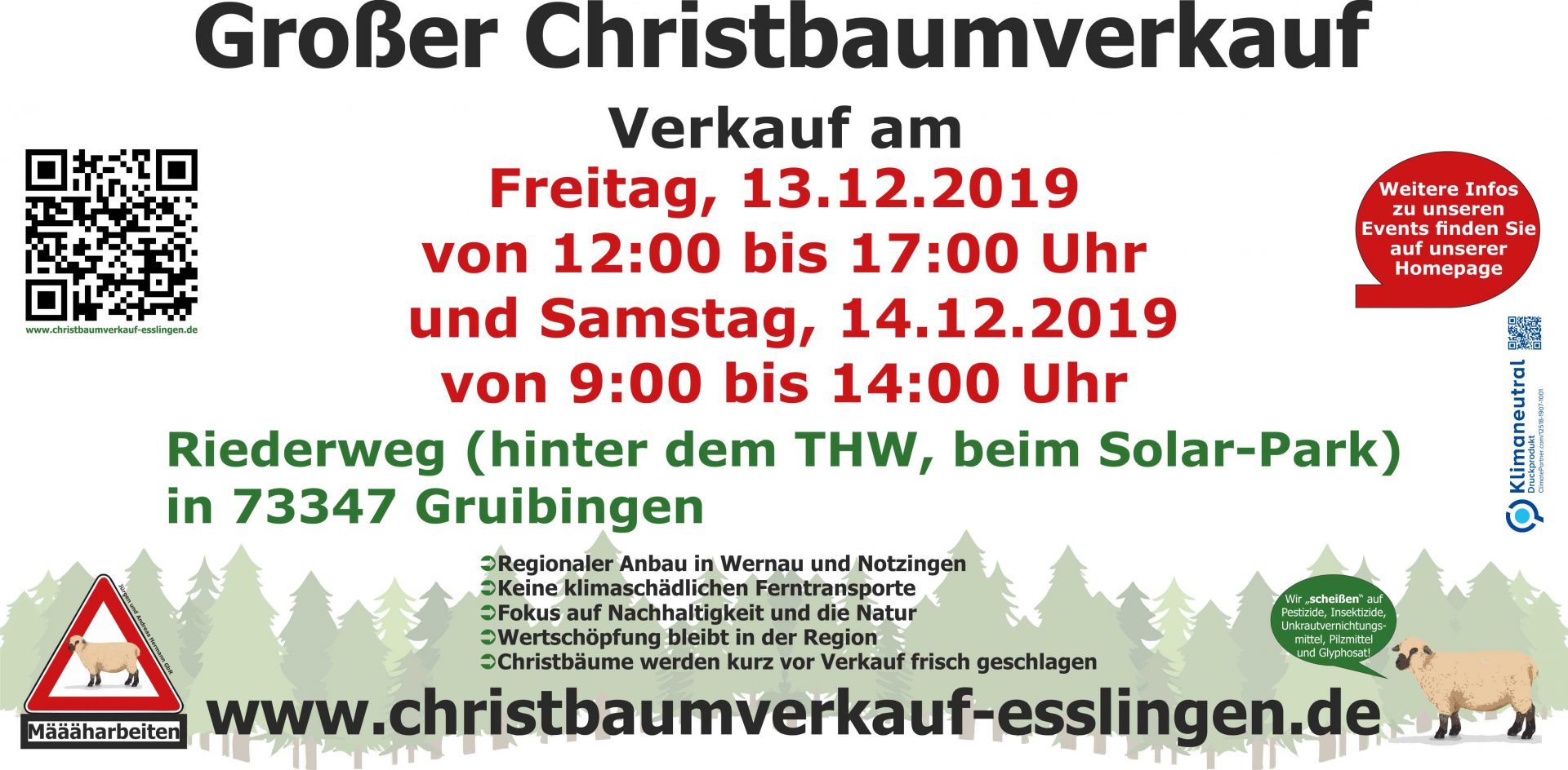 Christbaumverkauf Gruibingen